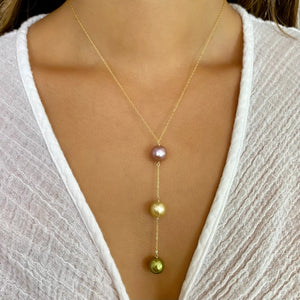 Tropical Goddess Y Pearl Necklace