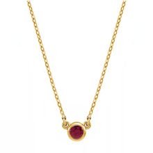 Load image into Gallery viewer, Ruby Solitaire Necklace