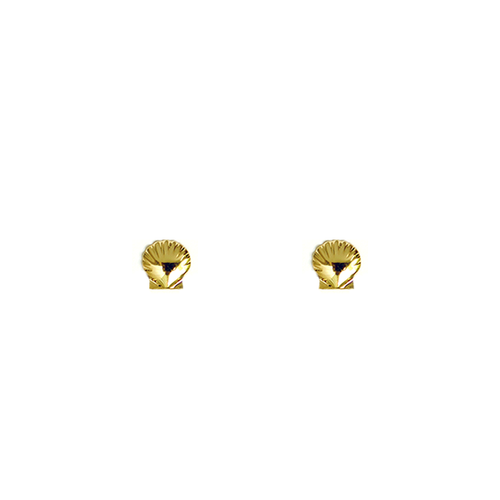 Sunrise Shell Stud 14kt Gold