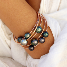 Load image into Gallery viewer, Double Tahitian Pearl Bangle