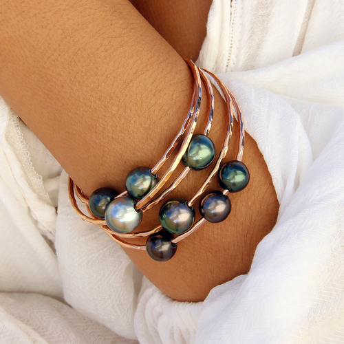 Triple Tahitian Pearl Bangle