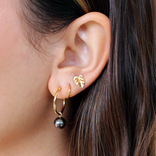 Load image into Gallery viewer, Tiny Monstera Stud Earring Solid 14kt Gold