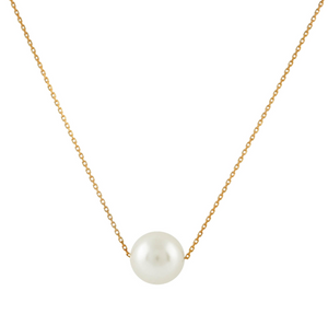 Floating White Freshwater Pearl Necklace