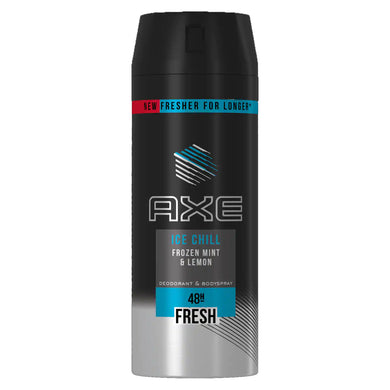 AXE Body Spray ICE CHILL Frozen Mint and Lemon  48H Fresh 150ml