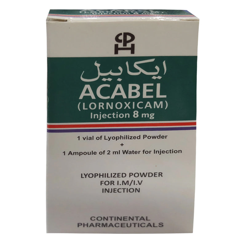 Acabel Injection 8mg Continental Pharmaceuticals Lornoxicam