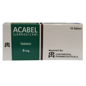 Acabel Tablets 4mg Continental Pharmaceuticals Lornoxicam