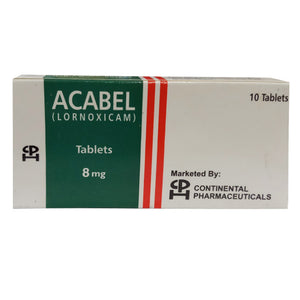 Acabel Tablets 8mg Continental Pharmaceuticals Lornoxicam