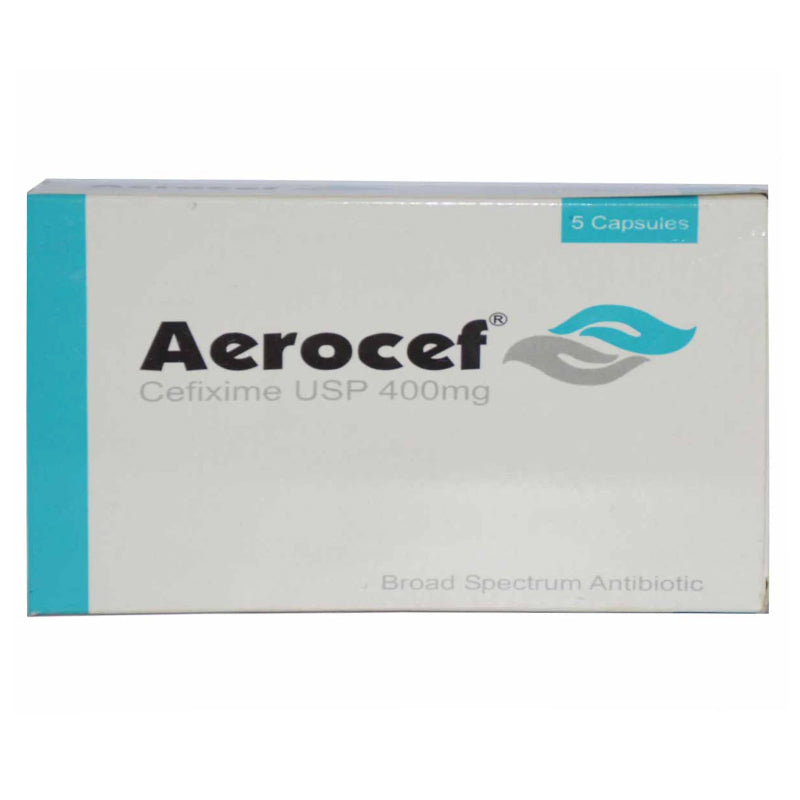 Aerocef Capsules 400mg RAAZEE THERAPEUTICS (PVT ) LTD Cefixime USP 400mg