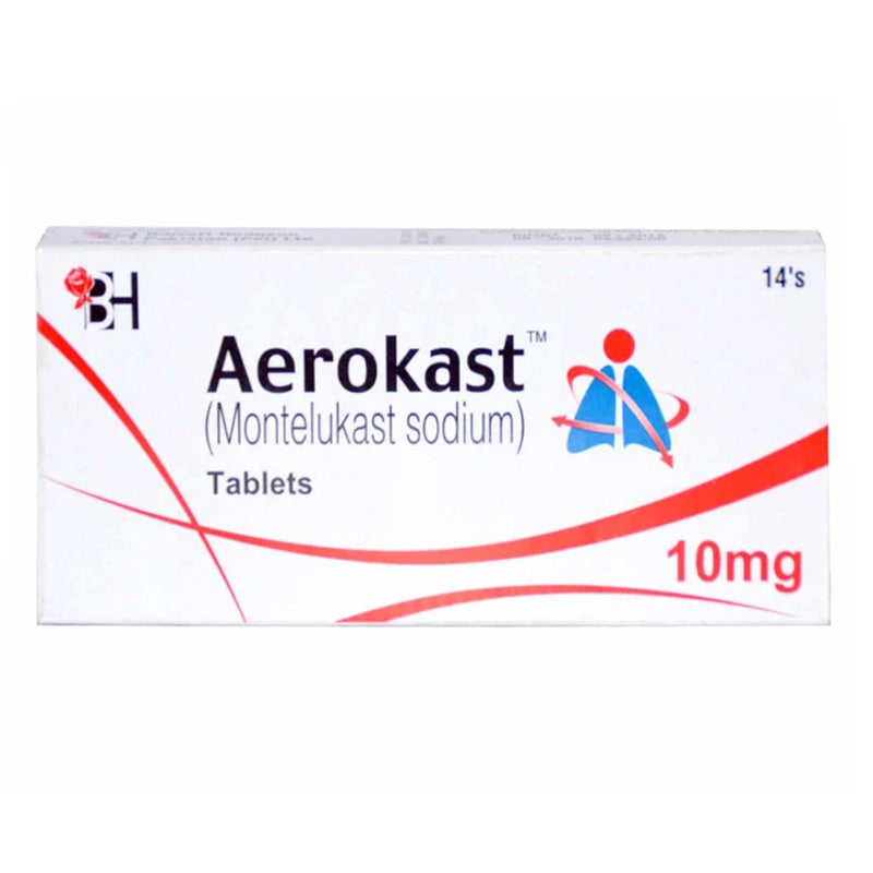 Aerokast Tablets 10mg BARRETT HODGSON PAKISTAN (PVT) LTD Montelukast Sodium