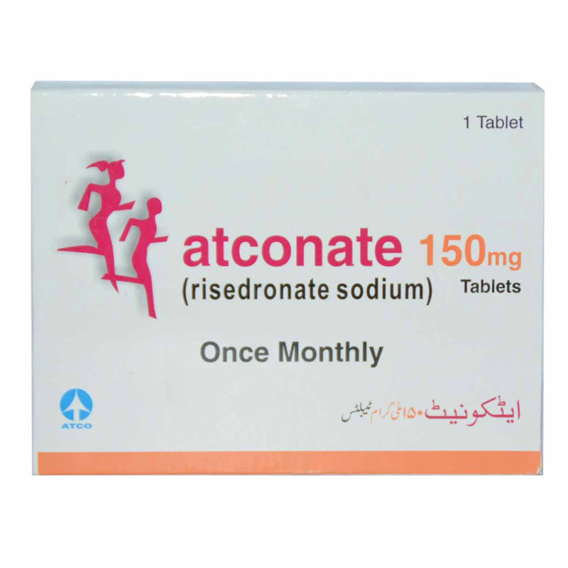 Atconate 150mg Tab Tablet Atconate Tab 150mg 1 s ATCO LABORATORIES PVT LTD Bisphosphonate RisedronateSodium