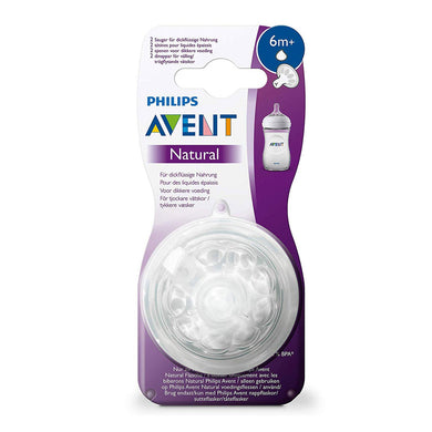 Avent Natural Feeding nipple, Y-cut, 6m + 2 pcs