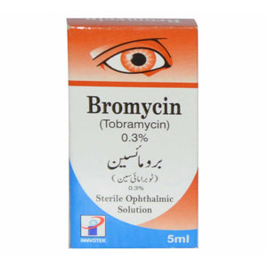 BROMYCIN Eye Drops 0.3% 5ml INNVOTEK PHARMACEUTICALS AMINOGLYCOSIDE ANTI-BACTERIAL Tobramycin