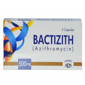 Bactizith Capsule 500mg Woodward Pakistan (Pvt) Ltd Macrolide Anti-Bacterial Azithromycin