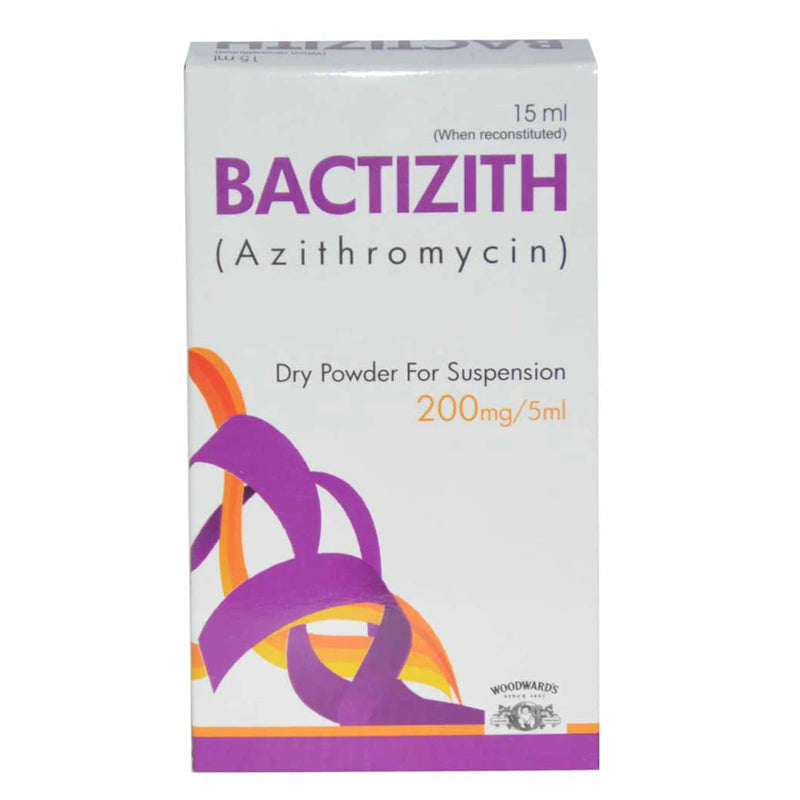 Bactizith Suspension 200mg/5ml 15ml Woodward Pakistan (Pvt) Ltd Macrolide Anti-Bacterial Azithromycin