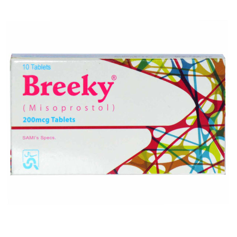 Breeky 200mcg Tab Tablet Sami Pharmaceuticals_Pvt_Ltd Abortifacient Misoprostol.
