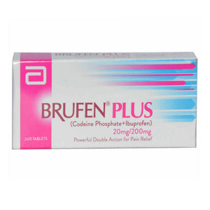 Brufen Plus Tablet 200mg/20mg ABBOTT LABORATORIES Opioid Analgesic Ibuprofen 200mg, Codeine Phosphate 20mg