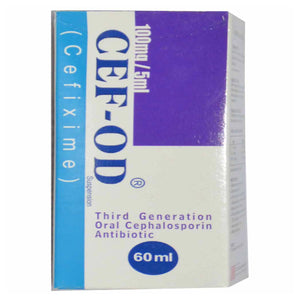 CEF OD 100mg 60ml Syp Syrup Suspention CCL Pharmaceuticals Cephalosporin Antibiotic Cefixime jpg