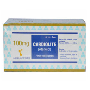 Cardiolite Tab 100MG Tablet CONTINENTALCHEMICALCO PVT LTD ANTI HYPERTENSIVE Atenolol jpg