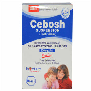 Cebosh100mg-5mlSyp 30ml Syrup Suspention BOSCH PHARMACEUTICALS PVT LTD CEPHALOSPORIN ANTIBIOTIC Cefixime jpg