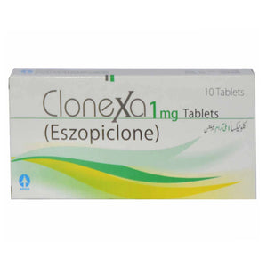 Clonexa 1mg Tab Tablet ATCO LABORATORIES_PVT_LTD Tranquilizer Eszopiclone