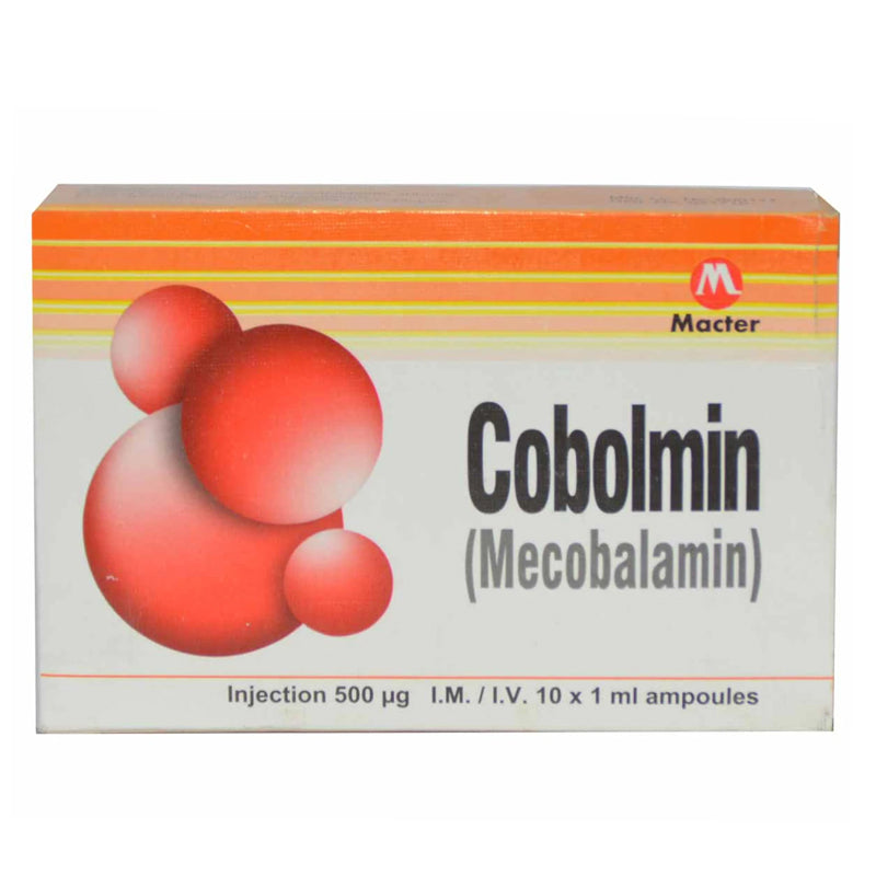 Cobolmin Inj 500mcg 10Ampx1ml Injection Macter International PVT LTD Vitamin B12 Mecobalamin
