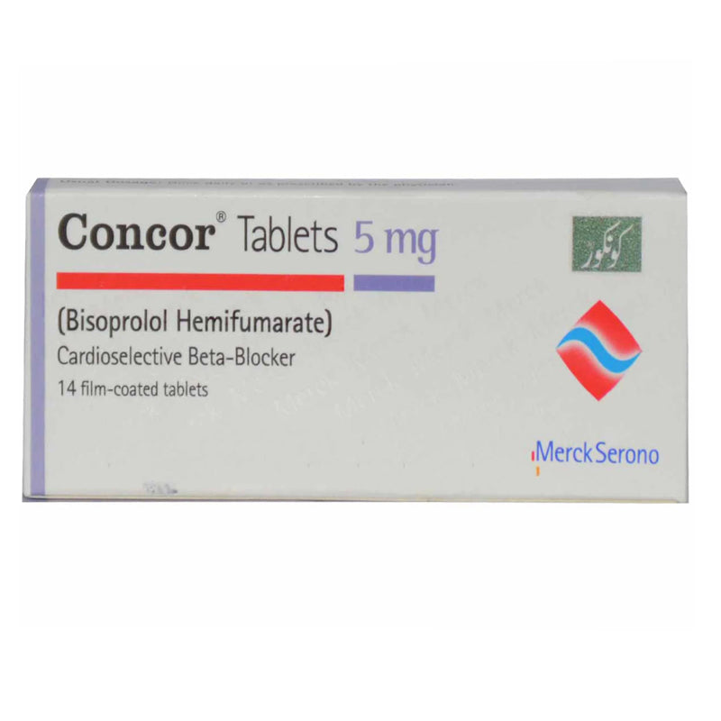 Concor 5mg Tab Tablet Martin Dow Pharmaceuticals Pak Ltd Anti Hypertensive Bisoprolol Hemifumarate