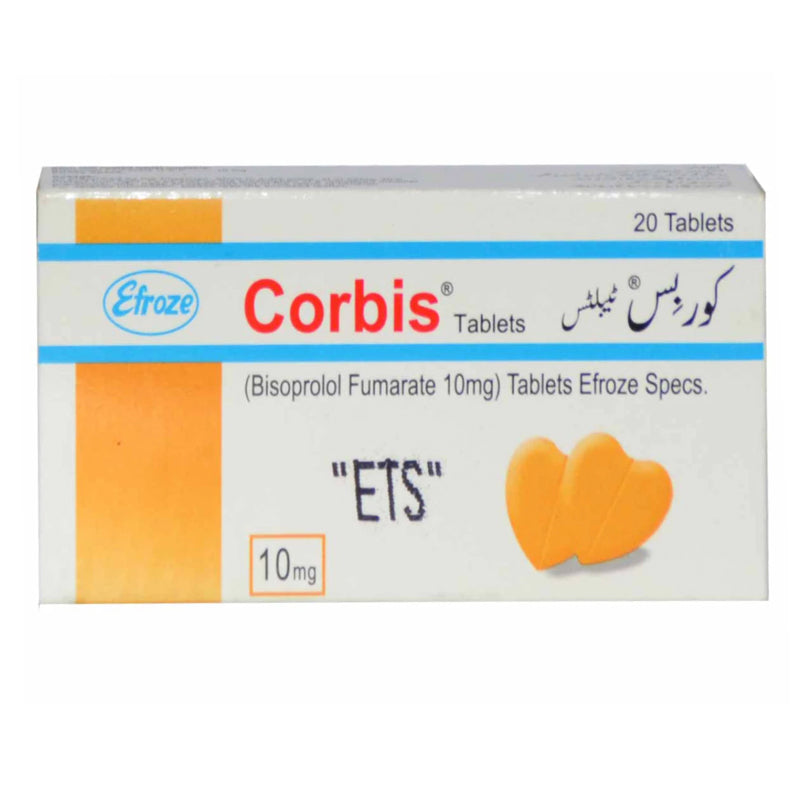 Corbis 10mg Tab Tablet Efroze Chemical Pvt Ltd Anti Hypertensive Bisoprolol Fumarate