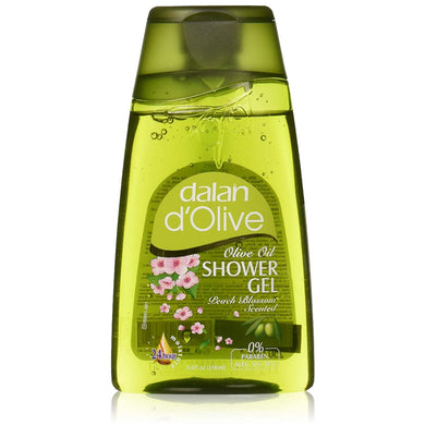 Dalan D'Olive Olive Oil Shower Gel Peach Blossom Scented-8.4 Oz 250ml
