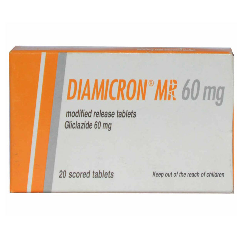Diamicron MR 60mg Tab Tablet Servier Research And Pharmaceuticals Pakistan Oral Hypoglycemic Gliclazide