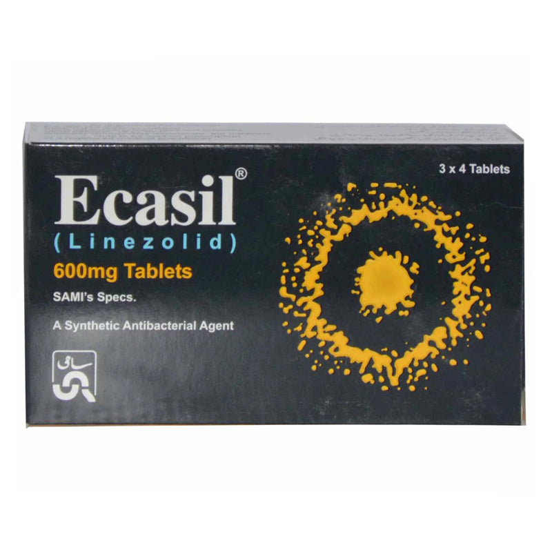 Ecasil Tablet 600mg Linezolid Anti-Bacterial Sami Pharmaceuticals