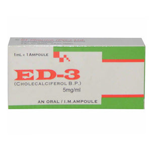 Ed-3 Oral Injection 5Ampoules Cholecalciferol 200,000iu English Pharma Vitamin-D Analogue