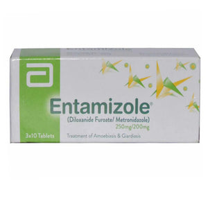 Entamizole 250mg 200mg Tab Tablet Abbott Laboratories Pakistan Ltd Anti Amoebic Diloxanide 250mg Metronidazole 200mg