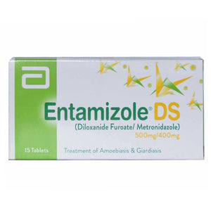 Entamizole Ds Tab Tablet Abbott Laboratories Pakistan Ltd Anti Amoebic Diloxanide 500mg Metronidazole 400mg