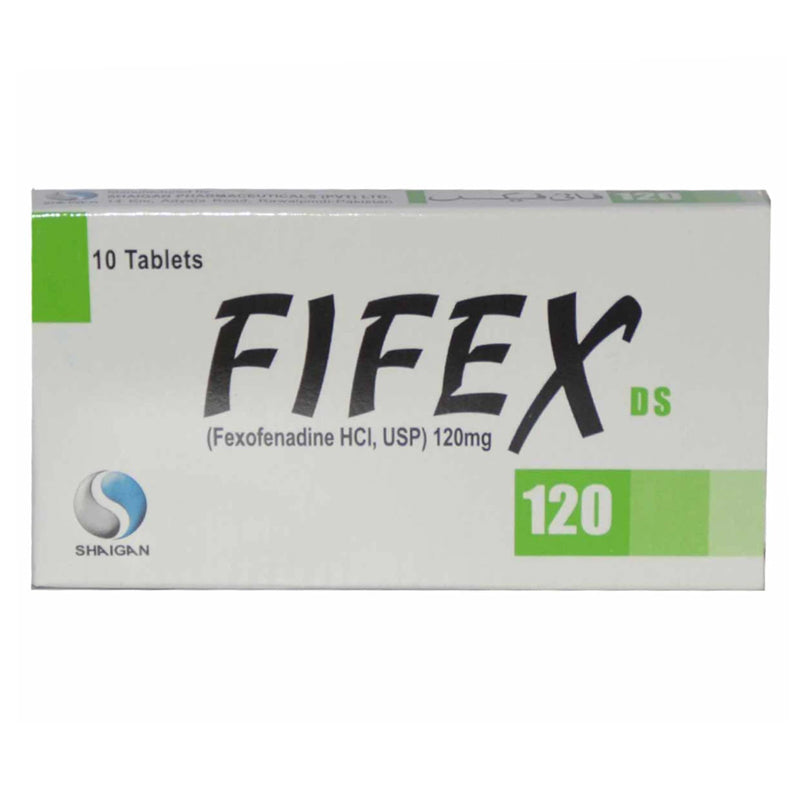 Fifex Ds 120mg Tablet Shaigan Pharmaceuticals Anti-Histamin Fexofenadine Hcl