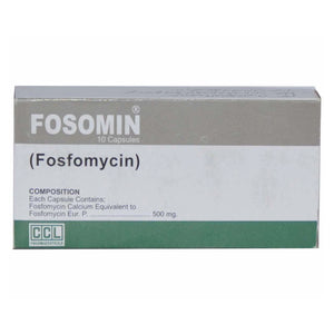 Fosomin 500mg capsule CCl Pharmaceuticals Anti-Bacterial Fosfomycin