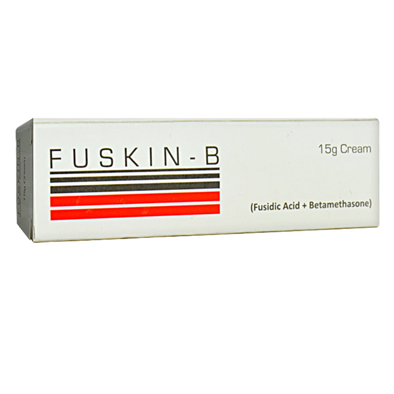 Fuskin b cream 5-g pharma health pakistan pvt  Ltd corticosteroid anti bacterial fusidicacid 2 betamethasonevalerate 0.1