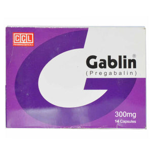 Gablin 300mg capsule CCL Pharmaceuticals Neuropathic Pain Pregabalin