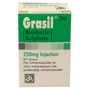 Grasil 250mg Injection Inj Ami Pharmaceuticals Aminoglycoside Anti Bacterial Amikacin Sulphate