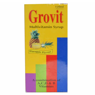 Grovit 120ml Syp Syrup Woodward Pakistan Pvt Ltd Multivitamins