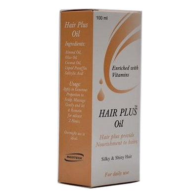Hair Plus Oil 100ml Liquid Maxitech Pharma Hair Plus Provide Nourishment To Hair Vitamins