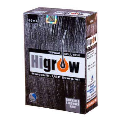 Higrow Topical Solution 60ml Shaigan Pharmaceuticals Hair Loss Minoxidil 50mg/ml