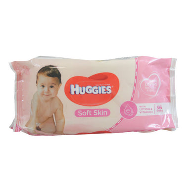 Huggies Soft Skin Baby Wipes 56