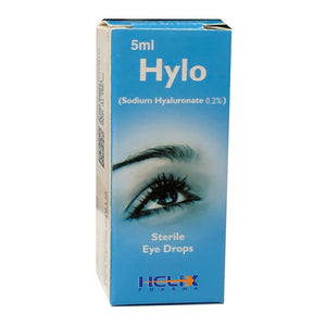 Hylo Eye Drops 0.2% 5ml Helix Pharma Anti-Glaucoma Sodium Hyaluronate