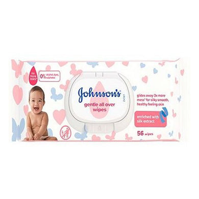 Johnson's Baby Gentle All Over Wipes 56's