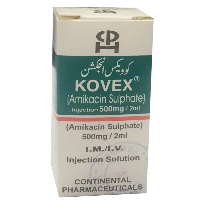 Kovex 500mg Injection Inj Continental pharma Aminoglycosideanti bacterial Amikacin Sulfate