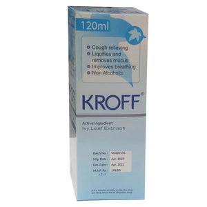 Kroff 120ml Syp Syrup Getz Pharmaceuticals Herbalpreparation Ivy Leaf Extract