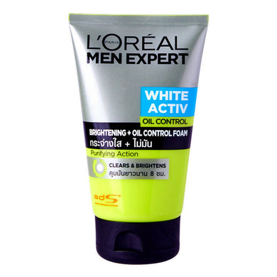 Loreal Men Expert White Active Oil Control Brightening + Oil Control Foam 100ml