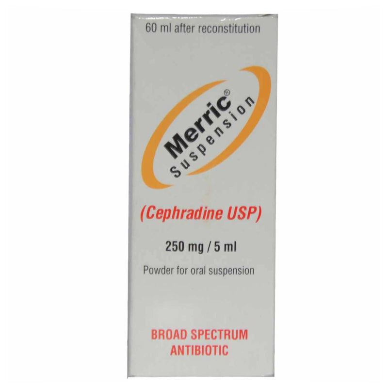 Merric 250mg Suspension 60ml Mega Pharmaceuticals Ltd Cephalosporin Anti Bacterial Cephradine