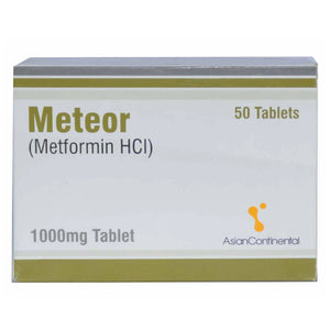 Meteor 1000mg Tablet Asian Continental Pharma Metformin HCL