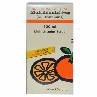 Multibionta Syrup 120ml Martin Dow Pharmaceuticals Pak Ltd Vitamin Supplement Nicotinamide 10mg Vitamin A 3000IU Vitamin B 21.2mg Vitamin B 11.5mg